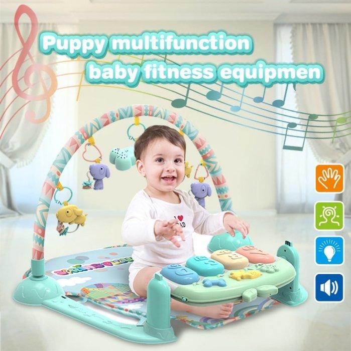【阿LIN】904411 春天寶寶頑皮小狗健身琴 嬰幼兒健身架 含音樂腳踏鋼琴 早教益智玩具