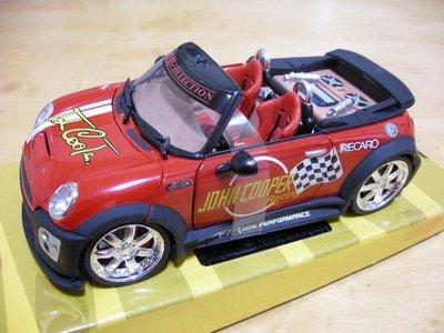 EXTREME TUNER 汽車 展示 模型 玩具 改裝車 DIE-CAST 1:24 BMW MINI COOPERS 敞篷車 紅色