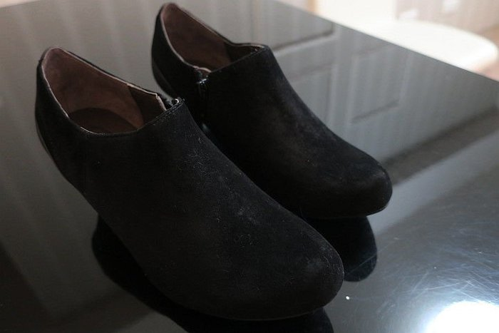 *Beauty*kimo黑色麂皮踝靴 US7.5號