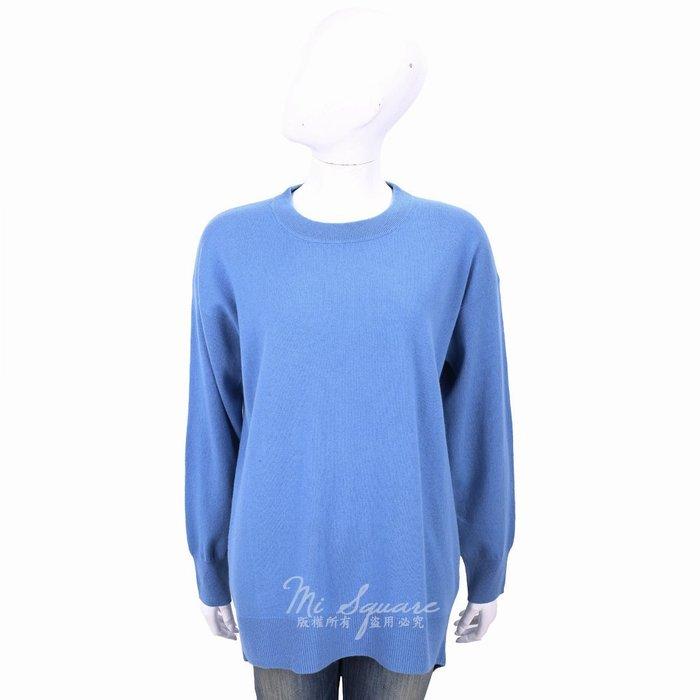 米蘭廣場 ALLUDE 喀什米爾蔚藍色圓領針織羊毛衫 1740218-23