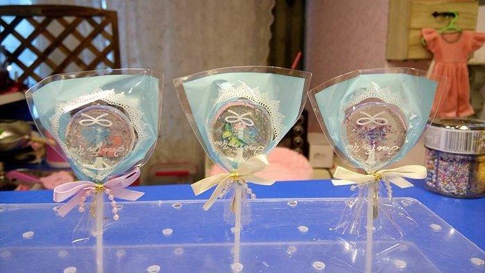 ☆║♥愷心小舖♥║☆創意小物 手做水晶煙火棒棒糖 婚禮 慶生 送禮 情人節