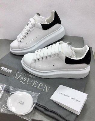 [ 羅崴森林 ] Alexander McQueen FW18白皮革 Leather Sneaker女低幫球鞋代購