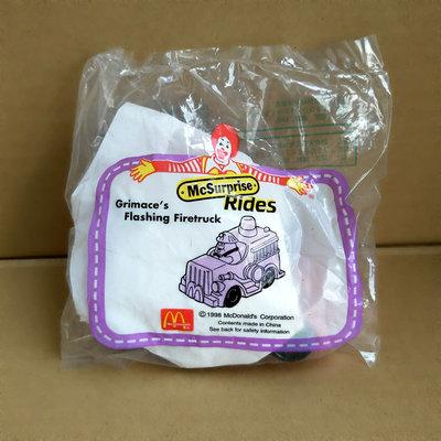 【未拆封 麥當勞玩具收藏】1998年麥當勞 奶昔大哥 閃光消防車造型公仔 (200)