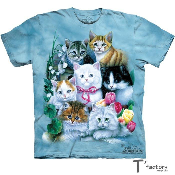 【線上體育】The Mountain 短袖T恤 7隻小貓 M號