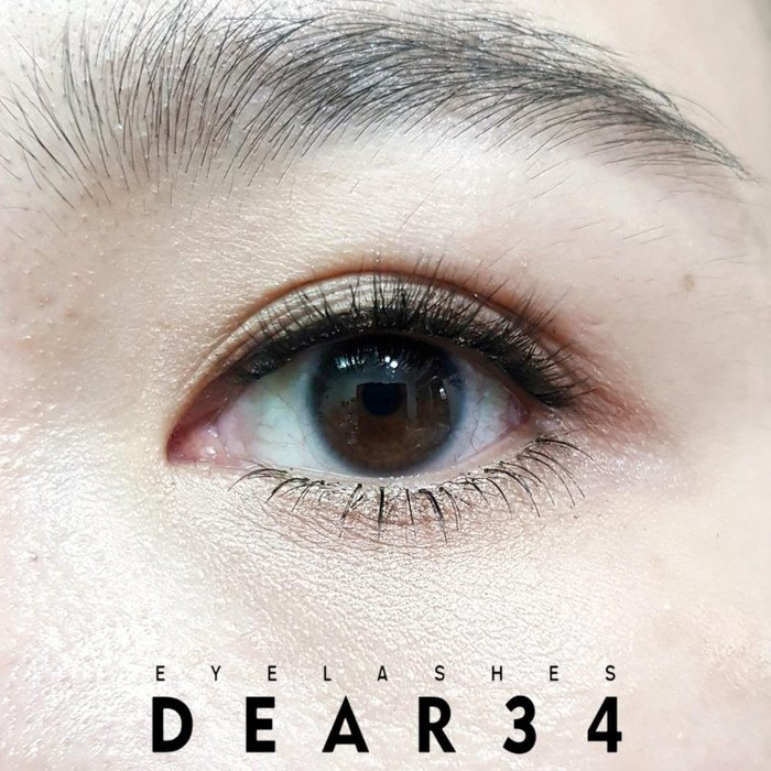 《Dear34》3D立體款3D-01透明梗眼中長小濃密假睫毛自然推薦 單款三對入 3D