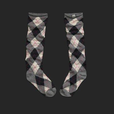 美國Abercrombie & fitch Slouchy Boot Socks超好搭配鬆寬靴襪酷酷的含運(格菱/蝴蝶結)在台現貨