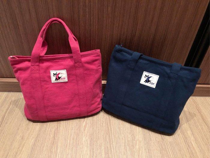 日本卡拉貓~簡約CARA繡線貓手提包 托特包