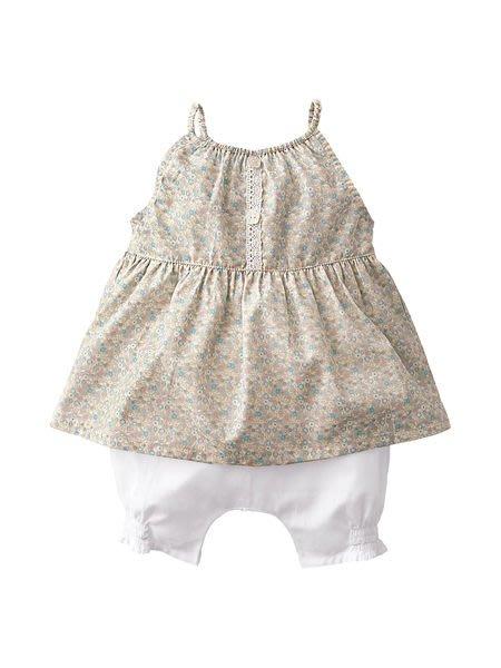 *Dou Dou House*法國進口【vertbaudet】嬰幼兒童裝 /歐洲進口嚴選童裝/女童裝/小碎花洋裝-Size:74
