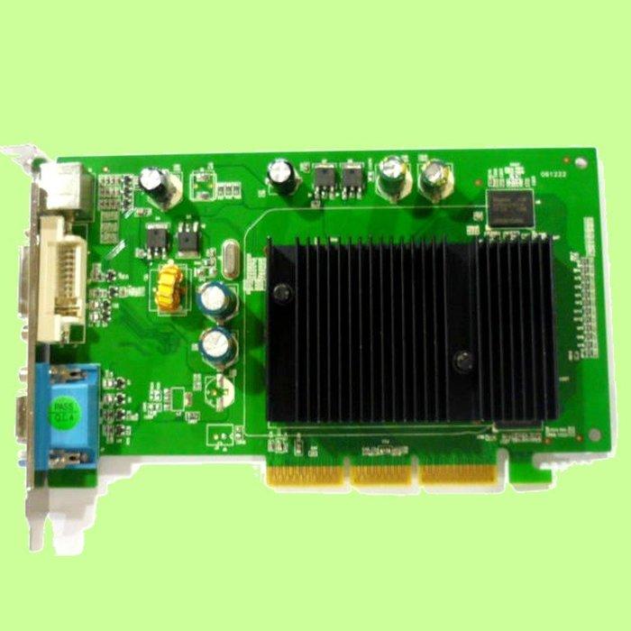 5Cgo【權宇】楓火 支援雙螢幕顯示卡 AGP 512M NVIDIA GF6200 DDR2 512M AGP 含稅