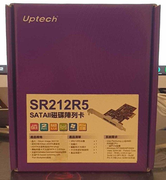 登昌恆 UPtech SR212R5 SATAII 磁碟陣列卡 硬碟陣列卡 全新品/免運費 台南 PQS