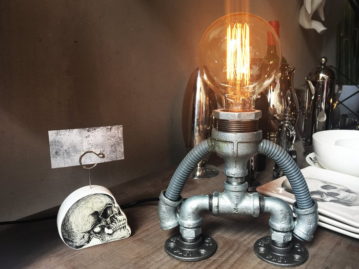 【曙muse】工業風檯燈(可調光) 機器人桌燈 造型檯燈 loft 工業風 咖啡廳 民宿 餐廳 住家 設計