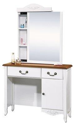 鄉村3尺 鏡台(含椅) 化妝台 梳妝桌 工作桌 台中新家具批發 000503705 【可現金分期】