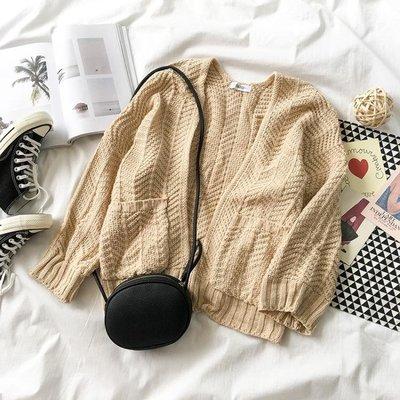針織衫秋裝韓版女學生小外套上衣百搭毛衣開衫長袖針織衫潮