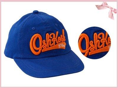 【童夢屋】美國OSHKOSH 寶藍色橘字母純棉棒球帽.鴨舌帽.帽子.遮陽帽.2-4T【1324410919】~7