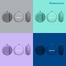 [DJS LIFESTYLE] MOBEWORK AIR PURIFIER 負離子隨身空氣淨化器 V2 全新四款顏色 綠松色 / 灰色 / 紫色 / 深藍色