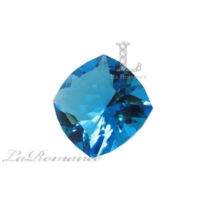 【芮洛蔓 La Romance】璀璨方型水晶鑽 – 海水藍 / 淨化心靈 / 舒緩壓力
