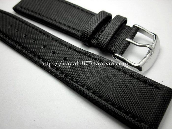 錶帶 手錶帶 優質20mm21mm22mm運動戶外登山高強度復合纖維表帶包邊真皮表帶電子批發五金