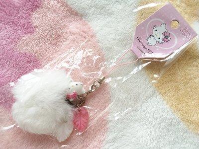 日本版 - 絕版Sanrio Charmmy Hello Kitty 毛毛球吊飾電話繩 2007年出品 moblie strap