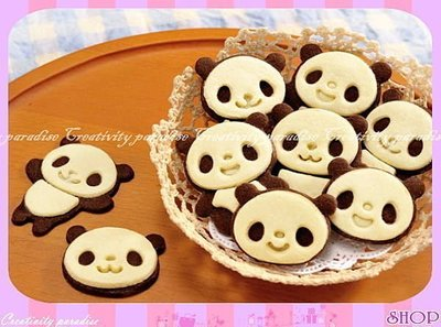 ☆精品社☆【曲奇餅乾模具組】熊貓造型模具套裝巧克力烘焙工具卡通糕點西點