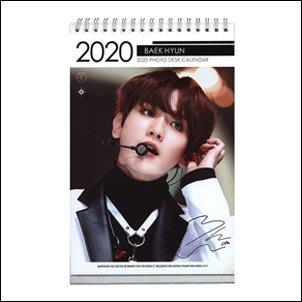 【 特價 】EXO 邊伯賢 BAEKHYUN 韓國탁상용 달력 正韓進口 2020 ~ 2021 直立式照片桌曆台曆