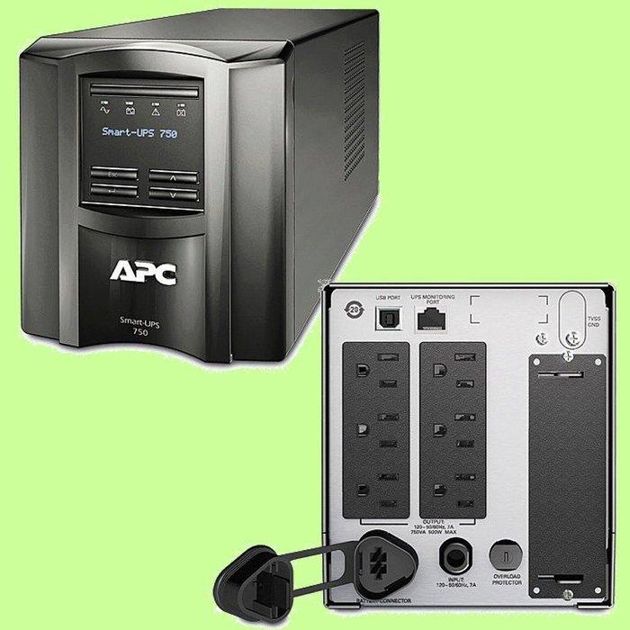 5Cgo【權宇】APC SMT750TW SmartUPS 750VA LCD 不斷電系統(UPS) 在線互動式 含稅