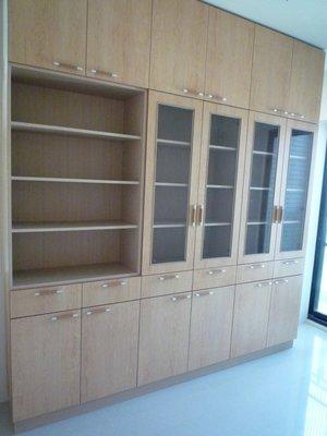 【書櫃】書櫃 + 收納櫃 (木芯板+美耐門板-耐用度高!) 高雄 屏東 系統櫥櫃