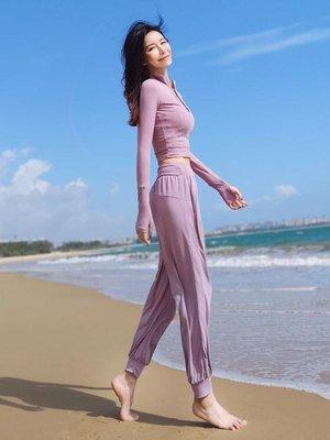 瑜伽褲slimmo寬鬆運動褲女長褲速干跑步褲透氣大碼瑜伽褲收口網紅健身褲