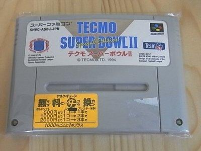 【小蕙館】SFC日版卡帶 ~ TECMO SUPER BOWL 特庫摩 超級橄欖球 II