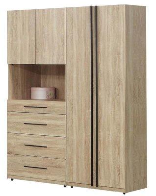 【風禾家具】FJF-544-4@工業風5.4尺4+5組合衣櫃【台中14400送到家】開門式衣櫥 低甲醛 北歐風 傢俱