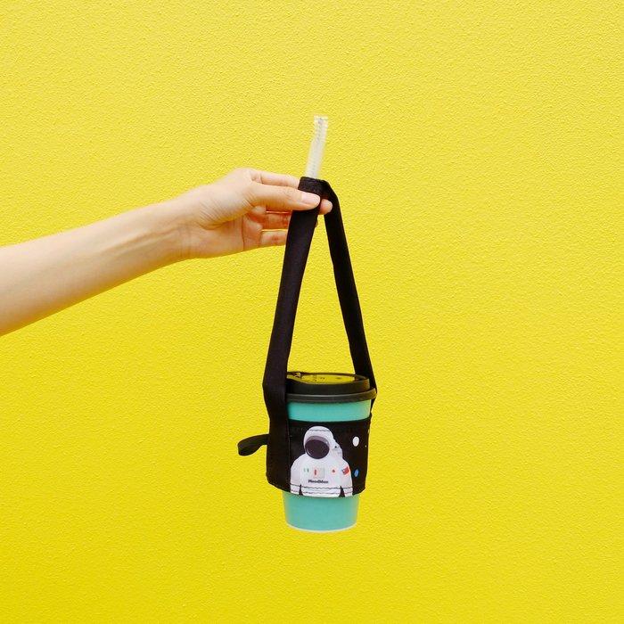 擁抱宇宙之太空人真偉大,飲料提袋(粗/細吸管皆可收納)