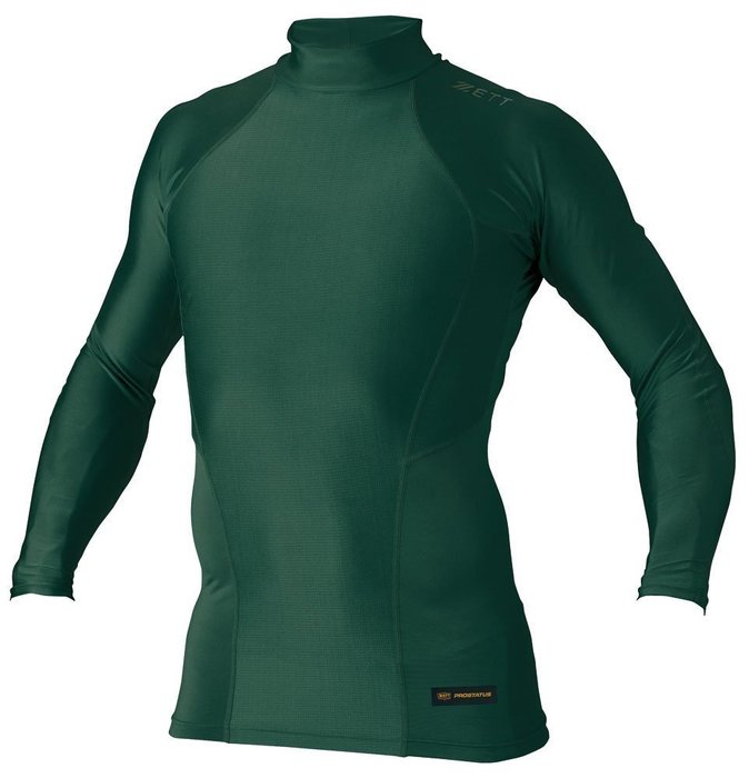 *wen~怡棒壘工場 ZETT日本製 進口長袖緊身衣(BPRO888-4800 (墨綠)O-XO )現貨特價1190元