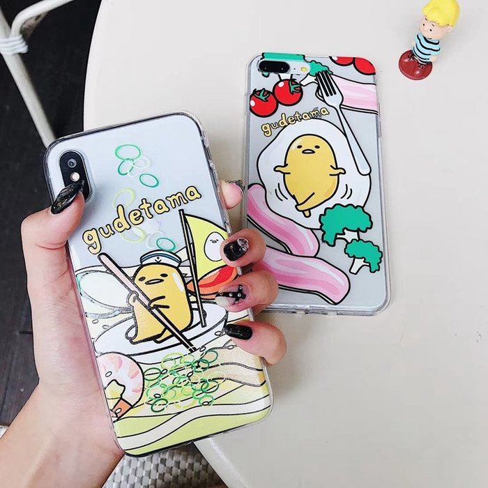 i6手機殼Apple保護套保護殼正韓國版惡搞卡通懶蛋蛋iPhone7手機殼X透明軟殼i6s蛋黃哥蘋果8plus保護套11
