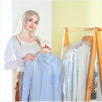 【Love Shop】60*120cm 大號 透明掛衣袋/衣服防塵罩防塵袋 (10入)