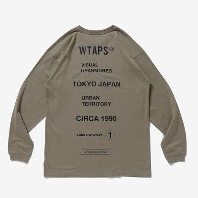 【日貨代購CITY】2020SS WTAPS CIRCA 標語 東京支部 目錄隱藏款 長T 現貨
