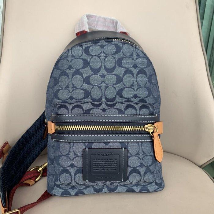 美國名品折扣店~ 特賣 COACH 3801新款chambray香布雷前後胸包 後背包