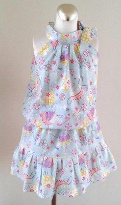 小雅兒童工作室~~手工製作~~香肩上衣+短裙
