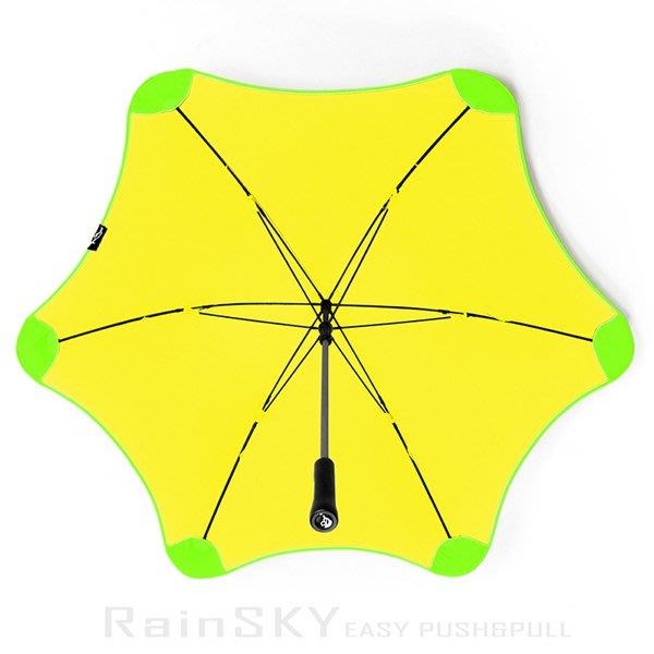 【RAINSKY傘】WindShear_颶風傘 (黃*綠) /雨傘防風傘抗風傘手開傘直傘直立傘長傘大傘防UV傘 (免運)