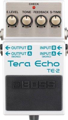 『放輕鬆樂器』 全館免運費 BOSS TE-2 Tera Echo 空間效果器