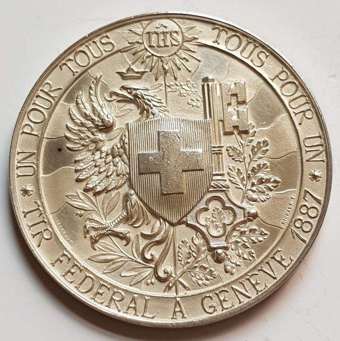 瑞士銀章 1887 Swiss Tir Federal A Geneve Silver Medal.