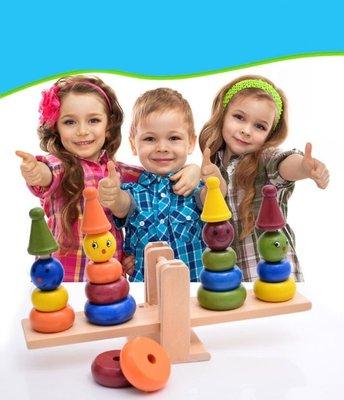 【晴晴百寶盒】木製可愛小丑蹺蹺板 益智遊戲 寶寶过家家玩具 角色扮演 親子互動 生日禮物 平價促銷 P112