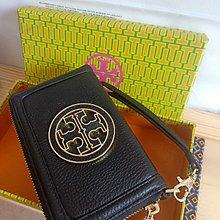 $299- bag wallet tory burch 經典大logo 茘枝紋牛皮 手拿包 拉鏈 銀包 錢包 特價清倉没折 就一個