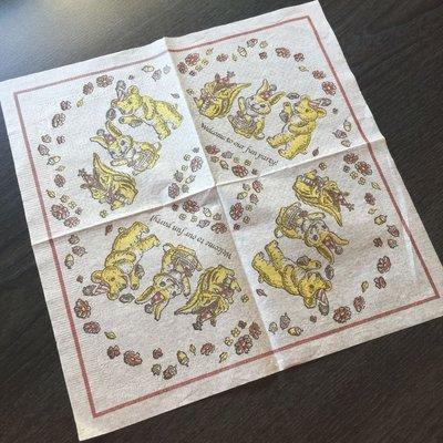 ❤Lika小舖❤日本製餐巾紙 拼貼 紙巾 蝶谷巴特 手工藝品 蝶古巴特 動物派對松鼠兔子小熊 **回饋價**
