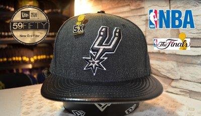 New Era NBA San Antonio Spurs 5x 美國職籃聖安東尼奧馬刺隊5次總冠軍紀念別針全封帽