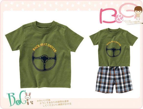 【B& G童裝】正品美國進口Crazy8方向盤圖樣綠色短袖上衣5yrs