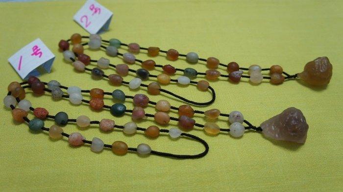 (老銀屋)純天然戈壁葡萄瑪瑙原石項鍊