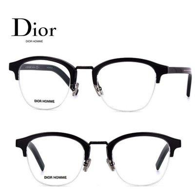 Dior Homme►(黑色框×金屬銀色) 貓眼框型 眼鏡 光學鏡框 中性款|100%全新正品|特價