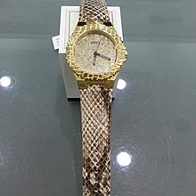 [永達利鐘錶] GUESS 金殼壓紋造型 蛇紋皮帶錶 GWW0227L2 總公司12個月保固 40mm