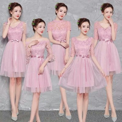 天使佳人婚紗禮服旗袍~短款 伴娘小禮服蕾絲