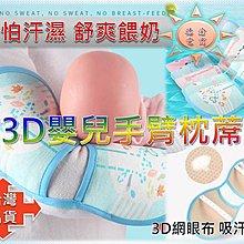 [現貨在台]3D嬰兒手臂枕蓆 嬰兒餵奶手臂涼蓆 寶寶手臂枕 抱娃神器 手臂墊 夏季冰絲哺乳枕席 透氣 新手媽媽必備