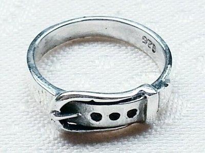 嗨,寶貝手創飾品工作室* 925純銀飾 寶石飾品☆新款個性風 皮帶造形戒指 全面85折 特價除外
